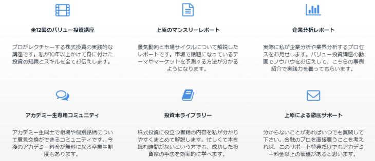 バリュー株投資アカデミーのコンテンツ紹介